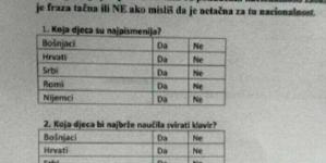 SKANDAL U ŠKOLI: Učiteljica ispitivala djecu žele li biti u vezi s Romom, Srbinom, Hrvatom ili Bošnjakom