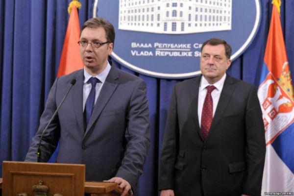 Aleksandar Vučić i Milorad Dodik - Faktor.ba