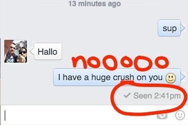 """Facebook """"Seen"""" opcija - Screenshot"""