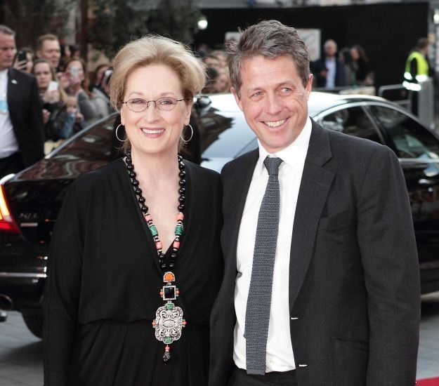 52021680 Celebrities attend the UK film premiere Of 'Florence Foster Jenkins' at Odeon Leicester Square on April 12, 2016 in London, England. Celebrities attend the UK film premiere Of 'Florence Foster Jenkins' at Odeon Leicester Square on April 12, 2016 in London, England. Pictured: Meryl Streep, Hugh Grant FameFlynet, Inc - Beverly Hills, CA, USA - +1 (310) 505-9876 RESTRICTIONS APPLY: USA/CHINA ONLY