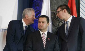 Aleksandar Vučić, Tomislav Nikolić i Ivica Dačić - Nap.ba