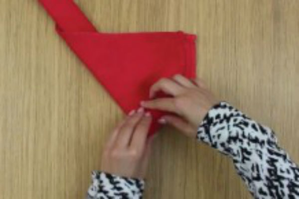 uzela je crvenu salvetu i u nekoliko sekundi napravila dekorativni komad koji ce iznenaditi sve goste