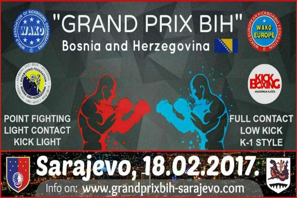 600 takmicara iz 8 zemalja 18 februara u ksc ilidza u sarajevu na kickboxing kupu grand prix bih 2017