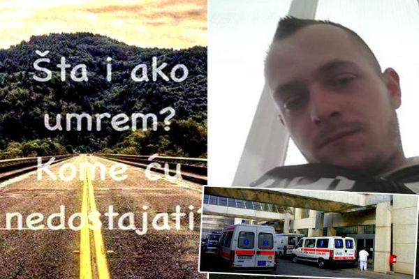 mladic armin iz sarajeva sinoc najavio samoubistvo na facebooku jutros stigla vijest da je spasen