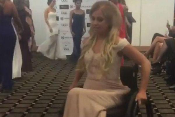 bravo prvi put na izboru za miss nepokretna djevojka u invalidskim kolicima u trci za finale