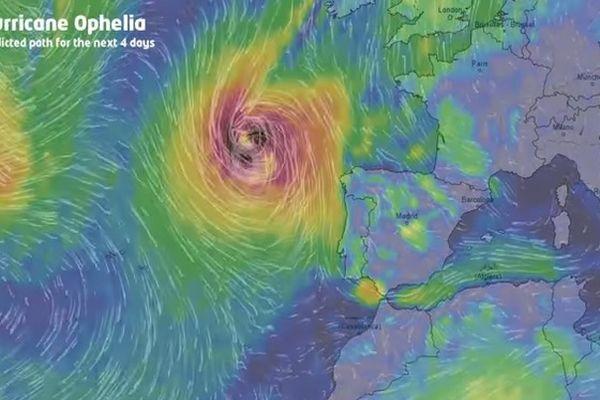 uragan ofelija sve blize evropi stizu vjetrovi brzine 185 kilometara na sat