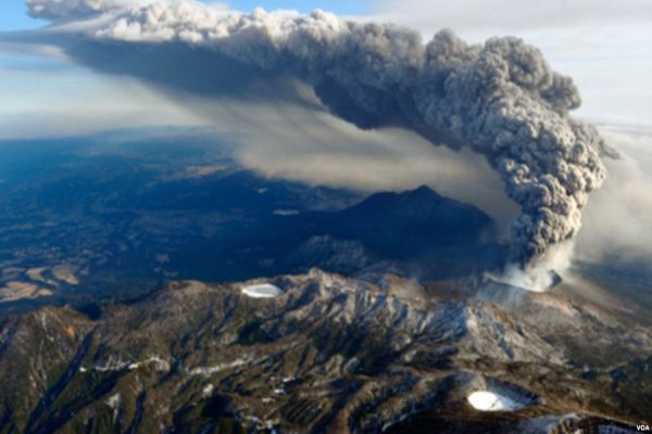 eruptirao vulkan u japanu