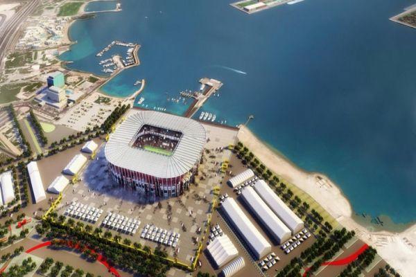 na svjetskom prvenstvu 2022 u kataru utakmice ce se igrati na stadionu od brodskih kontejnera
