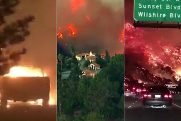 pakao u los angelesu pozar se nezaustavljivo siri gore kuce evakuirana elitna cetvrt bel air imanje ruperta murdocha u plamenu