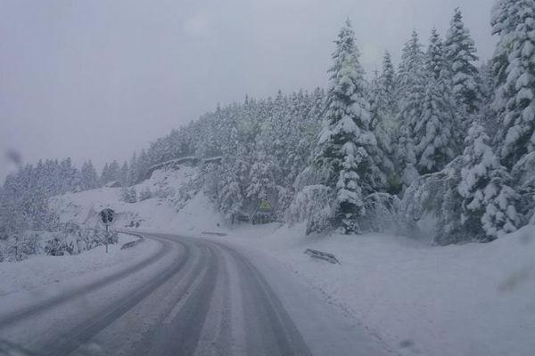 upozorenje vozacima zbog mogucnosti obrusavanja snjeznih lavina