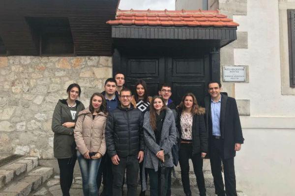 studenti turizma u posjeti muzeju hercegovine