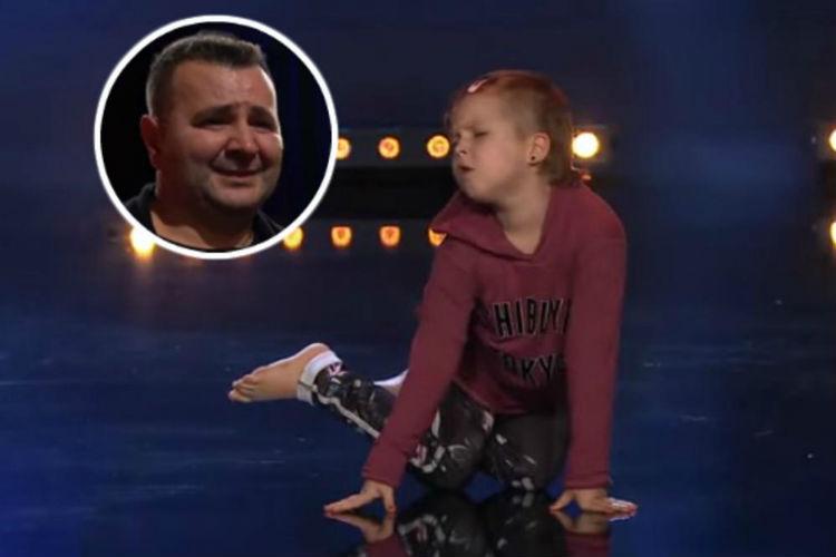 mala emina fascinirala u svedskom talent souu nastup je posvetila ocu iz trebinja koji je dozivio ronilacku nesrecu