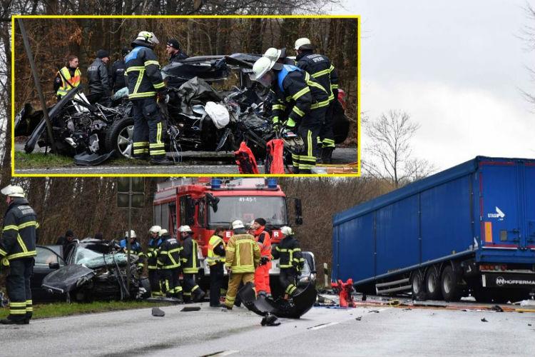 dvoje mrtvih u horor udesu prikolica se otkacila od kamiona i zabila u auto