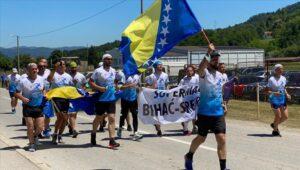 """Učesnici supermaratona """"Bihać - Srebrenica"""" stigli u Potočare"""