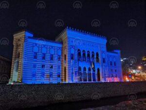 Sarajevo: Za 75. godišnjicu i Dan Ujedinjenih nacija osvijetljena Vijećnica