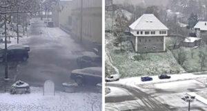 Prvi snijeg zabijelio bh. gradove