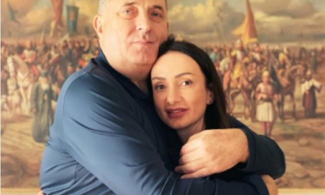 Gorica Dodik s ocem Miloradom