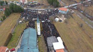 Pogledajte Rakitno danas iz zraka pred pokop šestero mladih