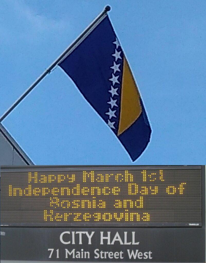 Kanadske čestitke za Dan nezavisnosti BiH su najbolji