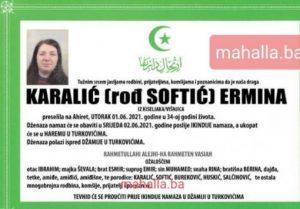 Tužna vijest: Preminula 34-godišnja Ermina Karalić
