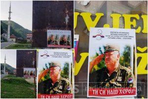 Nova provokacija u Srebrenici: Grad oblijepljen slikama zločinca Mladića