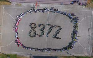 Učenici u Doboj-Istoku svojim tijelima ispisali broj 8.372