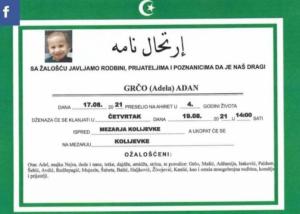 Tuga okovala Goražde: Danas dženaza četverogodišnjem dječaku