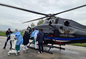 Trudnica iz Opće bolnice hitnim helikopterskim transportom izmještena u Zagreb