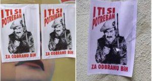 U Sarajevu osvanuli plakati sa natpisom 'I ti si potreban za odbranu BiH'