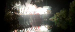 Željini navijači u Sanskom Mostu bakljadom i vatrometom proslavili 100. rođendan kluba